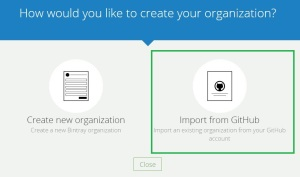 Create new organization